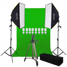 Youtuber Profissional Softbox Chroma Key e Tripé Gold - 220v