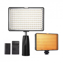 Iluminador de Led Foto e Video Light c/ Bateria e Filtros - KM-180S