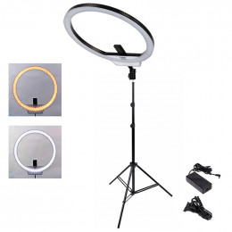 Ring Light Yongnuo YN608 Led + Tripé 2 Metros + Ajuste de Angulo
