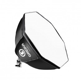 Octabox 55cm Softbox Octagonal c/ Soquete e Difusor + Grid