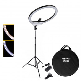 Ring Light Led Yongnuo YN308 + Tripé + Suporte Reclinável