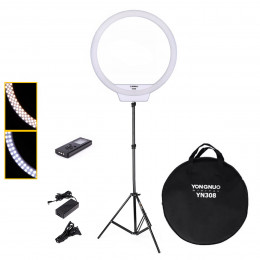 Ring Light Yongnuo YN308 Iluminador LED + Tripé