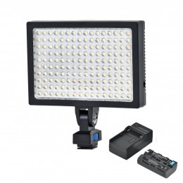Iluminador Led 160 Leds Foto e Video c/ Bateria - LED-1700