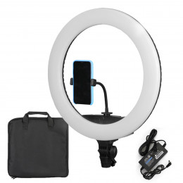 Ring Light Grande Iluminador LED 44cm + Suporte de Celular - LR-650