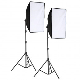 Kit 2 Softbox 50x70 Bivolt + Tripé