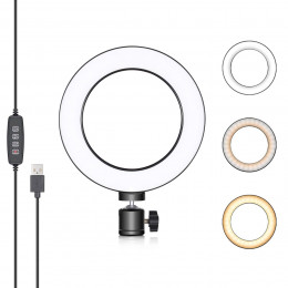 Ring Light de Mesa Iluminador LED 16 cm