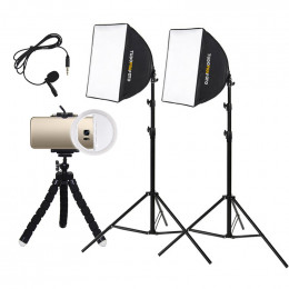 Estúdio Youtuber p/ Celular Soxtbox Mini Ring Light - Bronze 220v
