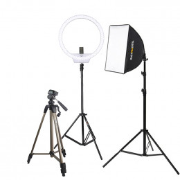Estudio Youtuber Ring Led e Softbox 50x50 Diamont - 220v